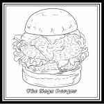 The Mega Burger - from 'Color That Burger' by Aidadaism