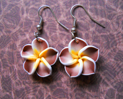 Brown Hibiscus Earrings by LypticDesigns