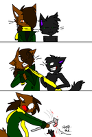 :KR: Don't Pull Her Scarf... by SpotEy-Meister