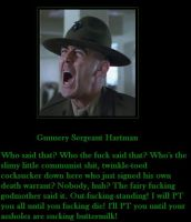 Gunnery Sergeant Hartman by MexPirateRed