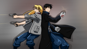 [Fullmetal Alchemist] Riza and Roy Mustang by Julie7770