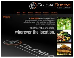 Global Cuisine Website Visual by motionmedia