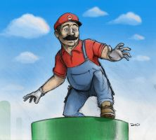 Super Mario by RobtheDoodler