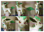 Leafeon real size plush by chocoloverx3