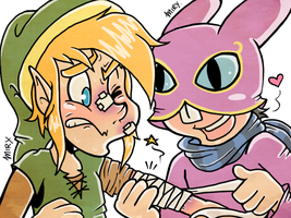 ALBW- Patching Mr.Hero Up! by DarkChocolateCandy