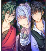 Trio Boys by angelnablackrobe