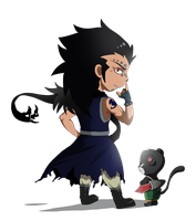 Gajeel  and Lily by Pechenbko