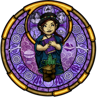 Art Trade: Stained Glass: Tock the Gnome by Akili-Amethyst