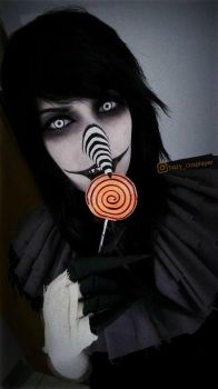 Laughing Jack [Makeup Test] CreepyPasta cosplay by HazyCosplayer