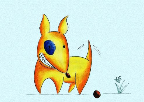 bull terrier yellow by memix62