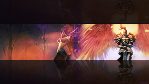 League of Legends Wallpaper Morgana and Kayle by weeman234