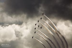 Red Arrows Airshow by Nam-tar