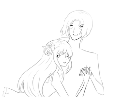 Line art commission WIP by mayakins23