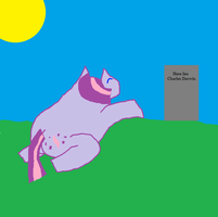 Twilight finds Charles Darwin by pewdie-Twilight