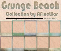 Grunge Beach Collection - Polaroids by AFineWar