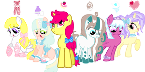 Mane 6 adopts by PuppySprinkles