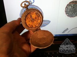 Doctor Who Fob Watch Papercraft Opened by HellswordPapercraft