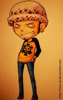 Trafalgar Law Chibi by Isara-La