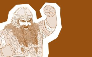 Gimli Son of Gloin by queensarwa