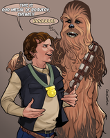 Chewie and Han Solo (episode 4) by Larscatson
