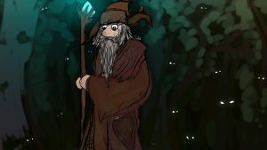 Radagast The Brown At Night in Forest by AwakeNight