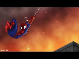 Spidey Escape by WarBrown