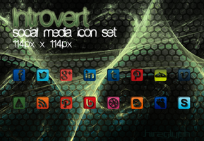 Introvert 114 - social media icon set by hiraglyph