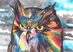 Whimsical Owl by snowmarite