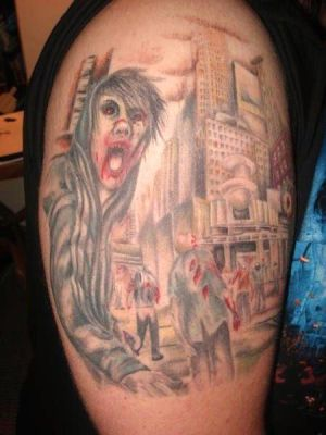 Charles Manson Zombie Tattoo by ~octodream on deviantART. ZOMBIE TATTOO