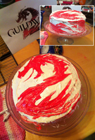 Guild Wars 2 Cake by Krittlebug