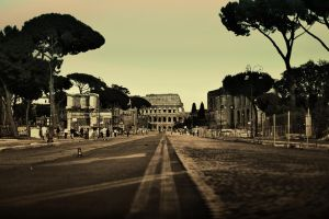 Colloseum Rome by dzemers