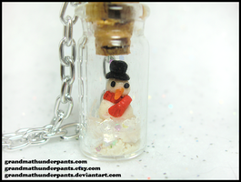 Everlasting Snowman Necklace by GrandmaThunderpants
