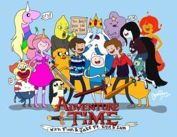 Adventure Time Ft. Kyle and Sam by chloisssx3