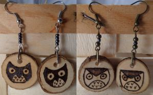 Earrings Owls by CiceroVanStain