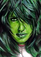 She-Hulk Sketch Card 7 by veripwolf