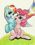 More Pinkie and Dash by kittyhawk-contrail