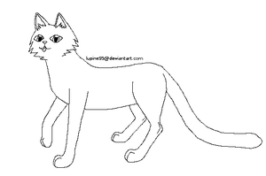 Free Cat Lineart X3 -paint friendly- by Lupine95