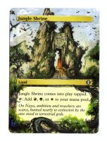 mtg altered card JUNGLE SHRINE by cerimair