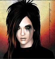 Bill Kaulitz Vampire 3D by BloodStainedKisses-x