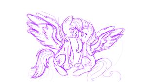 FlutterDash Sketch by LlamasWithKatanas
