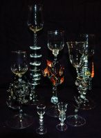 lampworked goblets by from-time-to-time