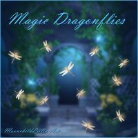 Magic Dragonflies free png by moonchild-ljilja
