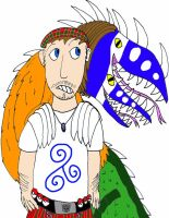 Self Portrait with Taniwha by WorldSerpent