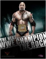 The Rock Artwork - WWE by roXx81