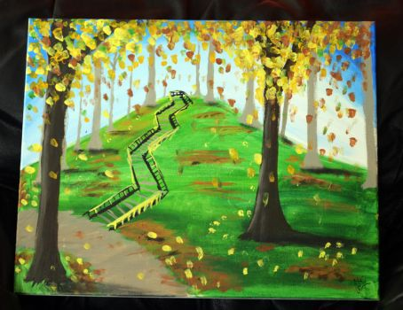 Fall Painting by Lavindyer