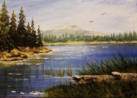 ACEO Mountain Lake by annieoakley64