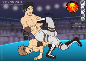 Attack on Pro-Wrestling: Jean vs. Marco by DetectiveMask