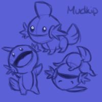 Mudkip sketches by Paroxysmal-Harlequin