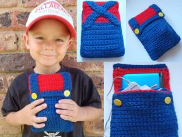 CROCHET SUPER MARIO 3DS CASE by maggieambi