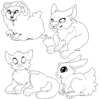 More Free Lineart by Novadog